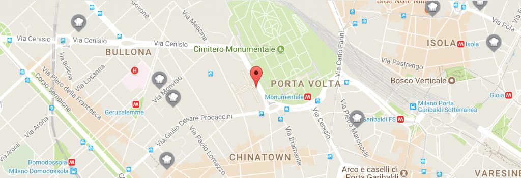 mappa cimitero monumentale