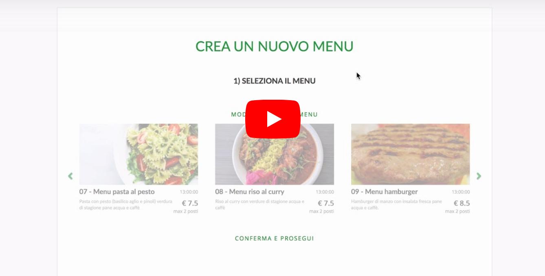 Migliorata la gestione dei menu e la programmazione dei pranzi futuri